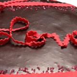 Gateau fourrage coeur de la Saint Valentin