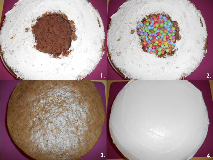 gateau surprise aux smarties | blog univers cake