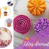 Idées pour faire de la décoration de gateau fleur