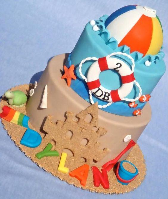 gateau-plage-sable-ballon-chateau