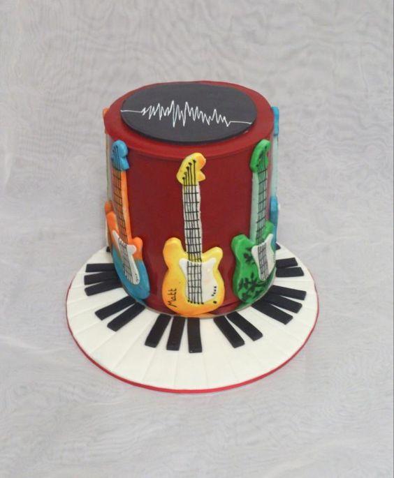 gateau-guitare-electrique-musique