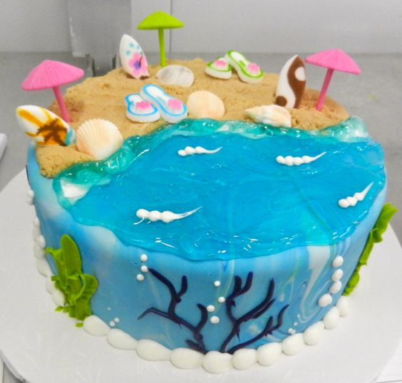 Joyeux anniversaire Gnomos !  Gateau-plage-mer-gel-comestible