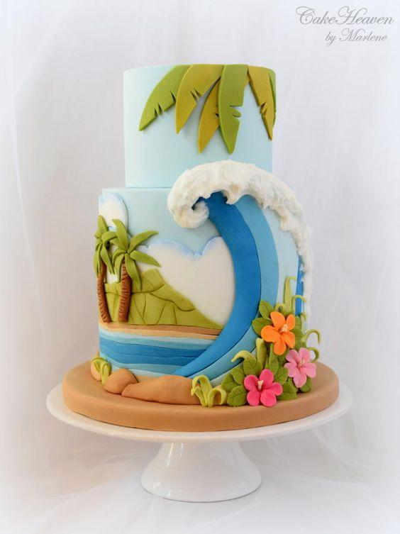 gateau-plage-vague-hawai